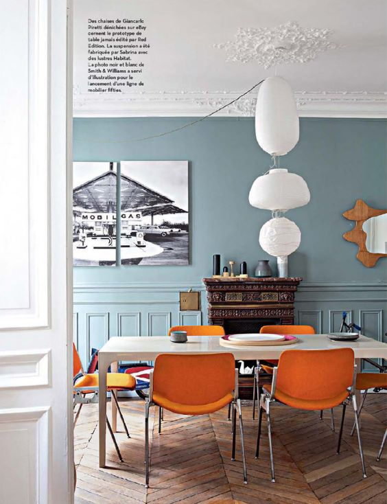 Sabrina Ficarra & Cyril Laborde Paris apartment - IDEAT avril 2014