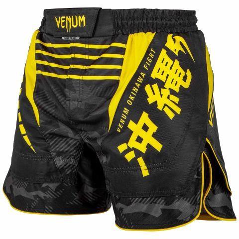 Venum Okinawa 2 0 Fightshorts Black Yellow Fight Shorts Mma Fight Shorts Mma Shorts