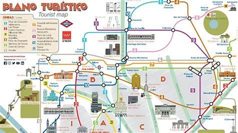 Mapa Turistico De Madrid.Image Result For Madrid Que Visitar Mapa Turistico Mapa