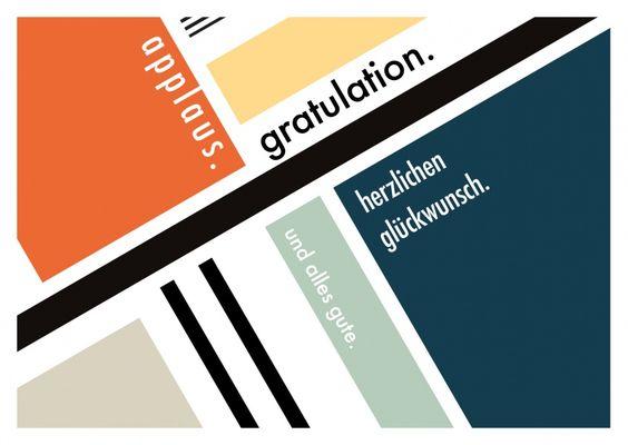 Bauhaus Gratulation | Glückwünsche | Echte Postkarten online versenden…