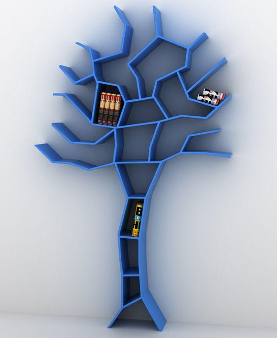 Estante em forma de árvore  Tree Bookcase, Roberto Corazza: