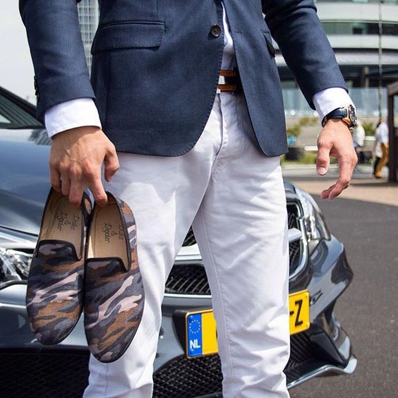 Urban Camo loafers from British brand @dukedexter