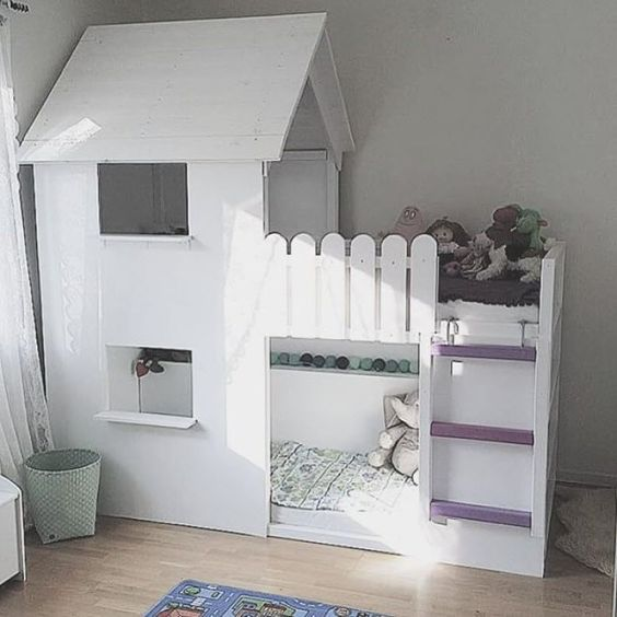 lit ikea transforme en cabane lit enfant pinterest ikea. Black Bedroom Furniture Sets. Home Design Ideas