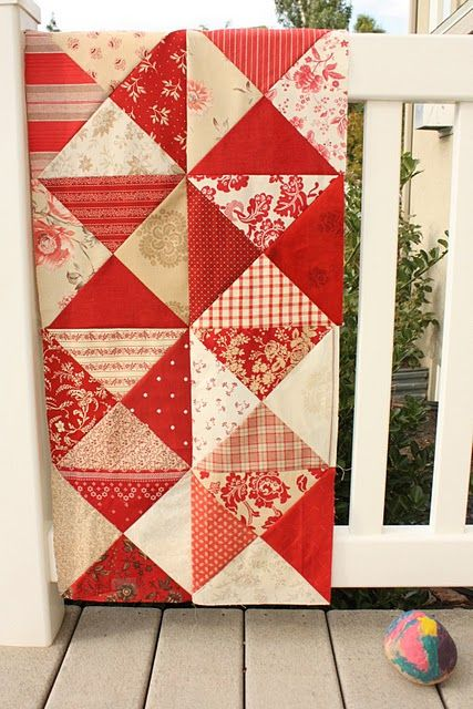 Red and White Blocks - easy!