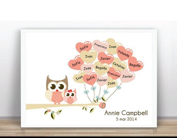 Fingerprint Tree Wedding - Baby Shower Tree Guestbook (PDF printable)  £12.00