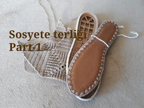 Sosyete Terligi Crochet Part 1 Youtube 2020 Terlik Sandalet Bayan Ayakkabi