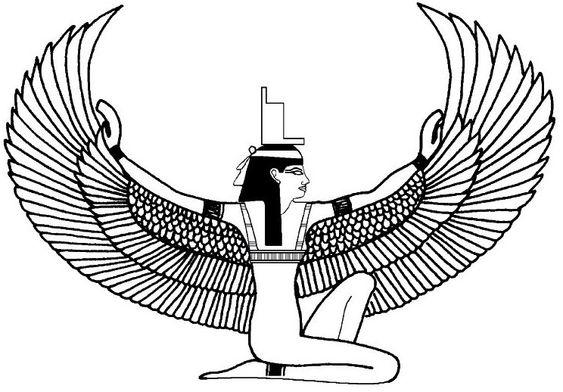 Egypte : Isis, divinité égyptienne - http://www.coloring-life.com: