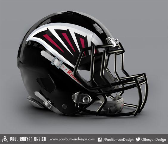 Atlanta Falcons - NFL Concept Helmet by Paul Bunyan Design