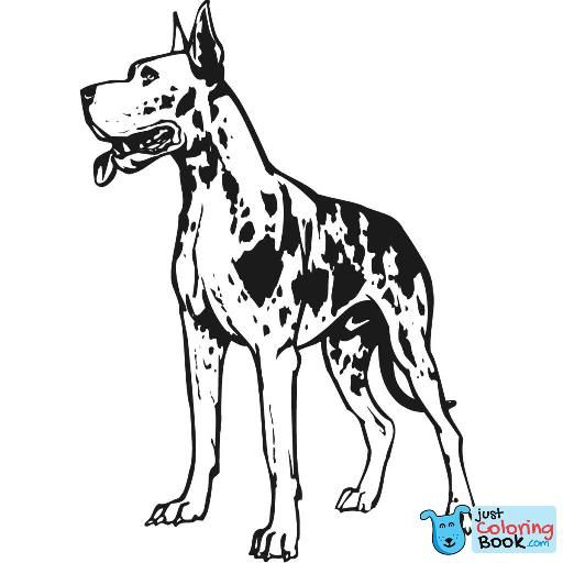 Great Dane Coloring Pages Free Printable Coloring Pages Great Dane