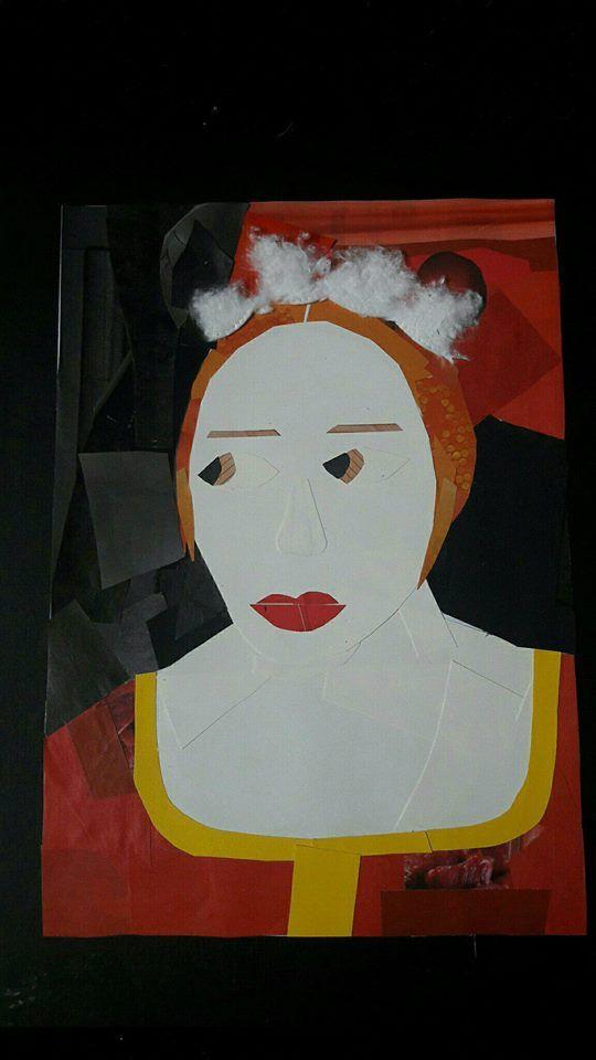Voici Un Portrait Realise En Collages Uniquement Ce Dernier Represente Un Personnage Du Tableau Le Tricheur A L As Clair Obscur Projets Artistiques Artiste