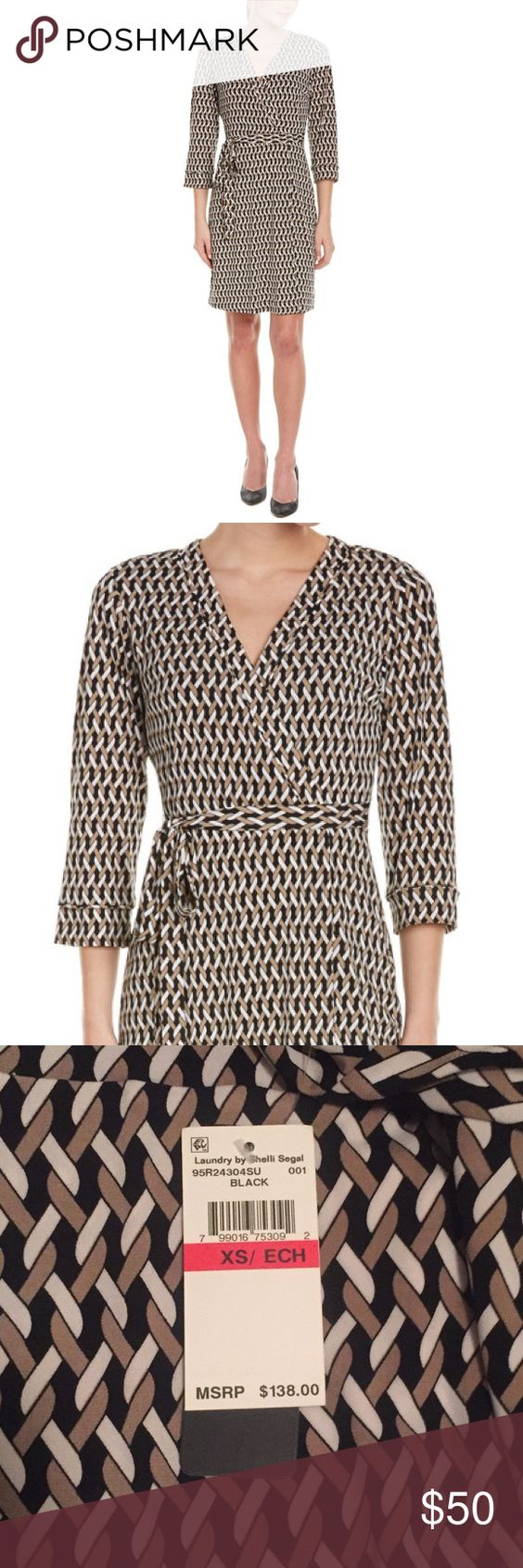 NWT Laundry by Shelli Segal Faux Wrap Dress Brand new with tags. Laundry by Shelli Segal Faux Wrap Dress. Size: X-Small. Retails for $138. Laundry by Shelli Segal Dresses