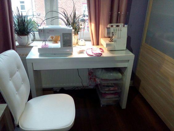 Ikea Holmo Floor Lamp Light Bulb ~ Meine kleine Nähecke Dank IKEA (Schminktisch mit Glasplatte und