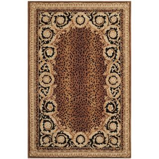 Safavieh Hand-made Naples Black/ Gold Wool Rug (8' x 11') | Overstock™ Shopping - Great Deals on Safavieh 7x9 - 10x14 Rugs