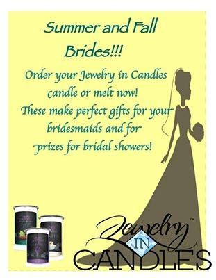 Jewelry in Candles would make a wonderful bridesmaids gift. Candles with Jewelry candle. Made in America. check out www.jewelryincandles.com/store/loishamilton