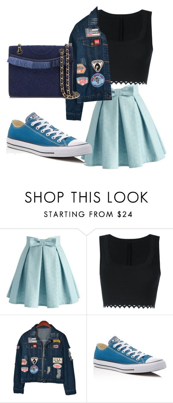 """""""Untitled #37"""" by aixeta ❤ liked on Polyvore featuring Chicwish, Alaïa, Chicnova Fashion, Converse and Tory Burch"""