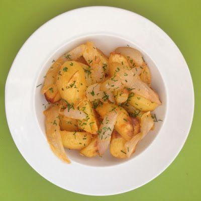 VIDA FELIZ: na Horta: Receitas das Colheitas: Batatas Assadas com Cebola e CEBOLINHO