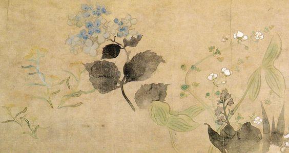 尾形光琳 四季草花図巻 | Art,etc.: