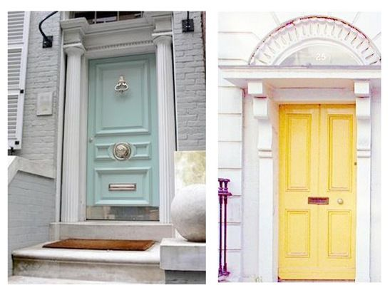 Love the teal door color and actual door itself. Link to tutorial for 8 steps to add curb appeal to your home.