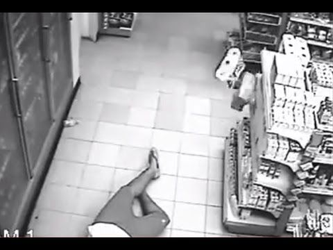 Man possessed by ghost on CCTV