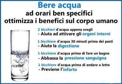 Bere acqua bene!