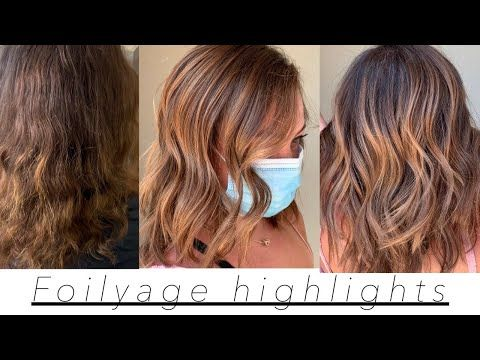 Warm Chestnut Blonde Foilyage Highlights Balayage Tutorial Youtube Balayage Hairstyle Hair