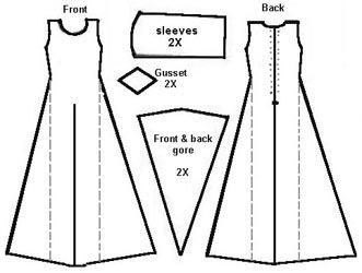 simple cotehardie pattern - no explanation