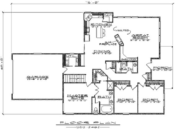 House plans home and the o 39 jays on pinterest - House plans with bonus rooms upstairs ...