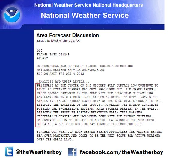 NWS Anchorage office hid a secret message in their forecast discussion this AM about the government shutdown: (10/4/13):