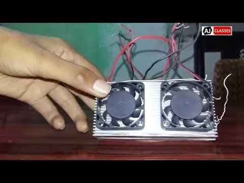 Homemade Peltier Air Conditioner Diy Mini Ac Prototype Youtube