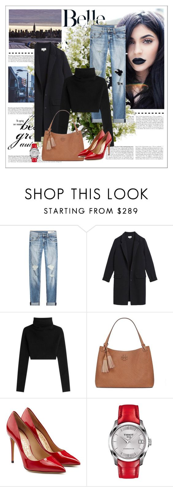 """""""Thea"""" by dragonflylt ❤ liked on Polyvore featuring rag & bone, Hartford, Valentino, Tory Burch, Salvatore Ferragamo, Tissot and New Growth Designs"""
