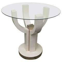 Glass-Top Side Table