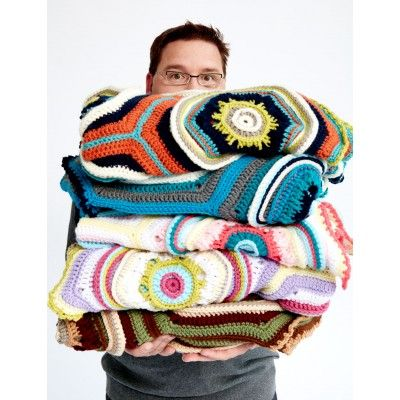 Stitch, Stop & Roll Afghan   Yarnspirations   Free Pattern   Easy Pattern   Home Decor