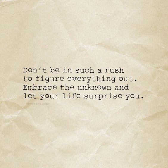 Don't rush quote: