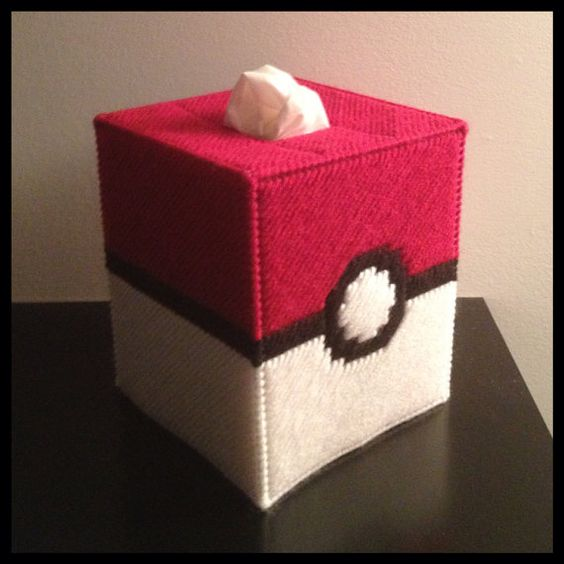 Pokemon tissue box cover boxes pinterest plastic for Tissue box cover craft