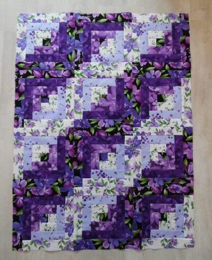 Purple floral log cabin                                                       … …