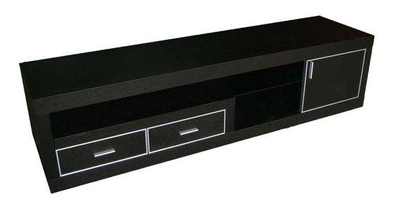Dark Wood 71 Inch Sinatra TV Stand with Drawers and Storage | Zuri Furniture…