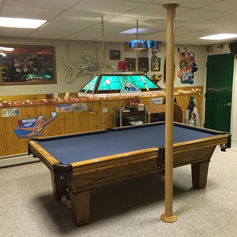 basement poles often conflict with pool table space pole wrap is an