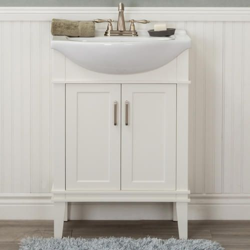 Home Elements 24 W X 17 5 D White Seattle Vanity With Top Bathroom Vanity Vanity Single Bathroom Vanity