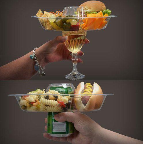 assiete a trou cocktail
