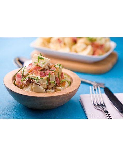 Salada de cebola caramelizada e batata
