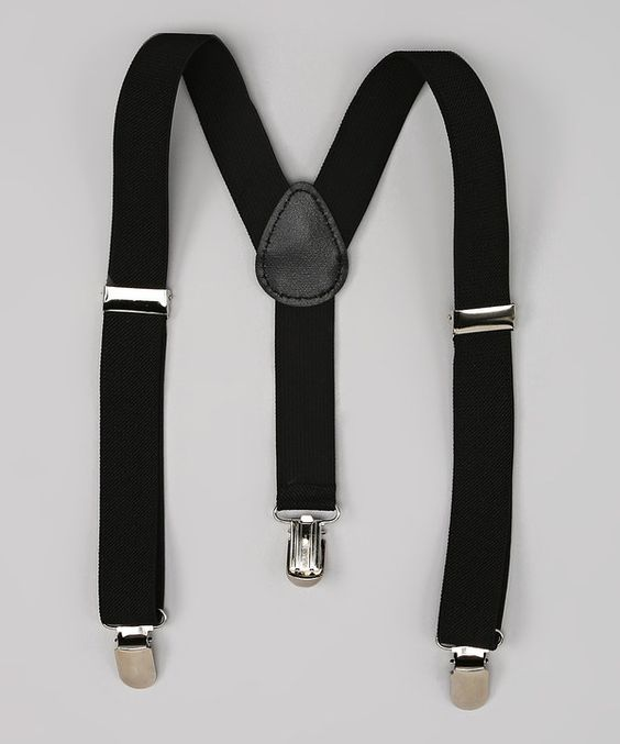 Look at this Bubbly Bows Black Suspenders on #zulily today!