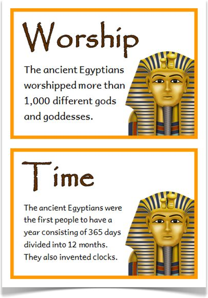 Ancient Egypt Fact Cards - Treetop Displays - A set of 24 A5 fact cards that give fun and interesting facts about ancient Egypt. Each fact card has a key word heading, making this set an excellent topic word bank as well! Visit our website for more information and for other printable resources by clicking on the provided links. Designed by teachers for Early Years (EYFS), Key Stage 1 (KS1) and Key Stage 2 (KS2).