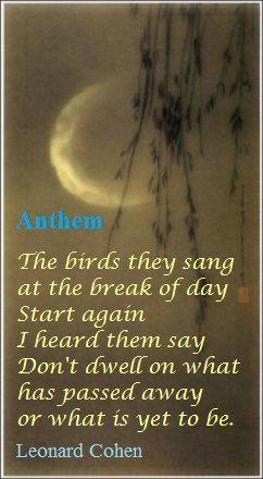 Anthem .....Leonard Cohen: