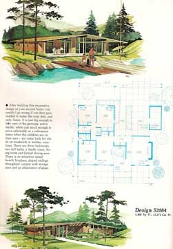 Mid century modern vacation homes a frames ranch house for Home planners inc