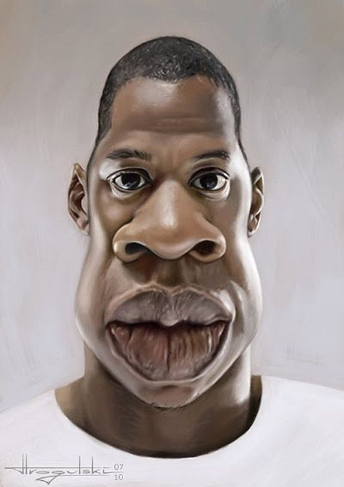 Caricature de Jay-Z.       For more great pins go to @KaseyBelleFox