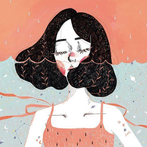 Sem você - Desvendando Segredos com Talyta Xavier #ilustração #ilustration #ilustraciones #ilustra #ilustrações #desenhos #desenhorealista #girl #reflexão