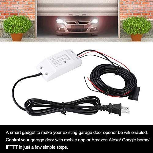 Smart Wifi Garage Door Opener Remote Controller Smartphone App Control Compatible With Alexa Google Garage Door Opener Remote Garage Door Opener Smart Wifi