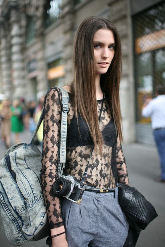 Outside the Milan shows.