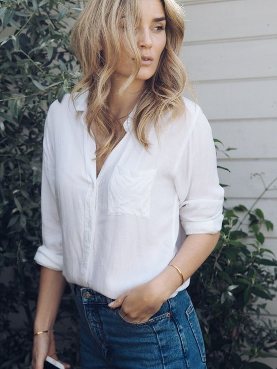 White shirt and jeans | @andwhatelse