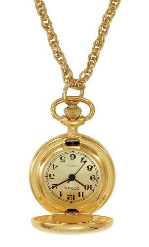 Gotham Women's Polished Gold-Tone Quartz Fashion Pendant Watch # GWC14132GC Gotham. Save 42 Off!. $34.95. Elegant highly polished gold-tone covered pendant watch that opens to display time. Precision Japanese quartz movement. Includes 28 inch gold-tone rope chain. Arrives in gift packaging that does not need wrapping, operating instructions and a lifetime limited warranty. Rich gold-tone sun-ray dial with black antique style Arabic numbers and hands